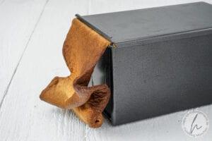 Backfails - Toastbrot mit zu viel Teig in der Backform