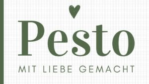 Basilikum Pesto Etikett