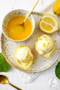 Buttermilch-Zitronen-Eis Zitroneneis