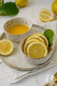 Buttermilch Zitroneneis