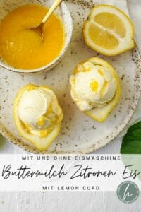 Buttermilcheis mit Zitrone