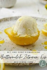 Zitroneneis mit Buttermilch