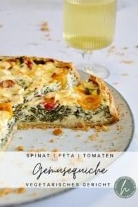 Gemüsequiche mit Spinat und Feta