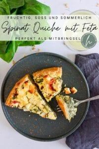 Spinat Quiche mit Feta