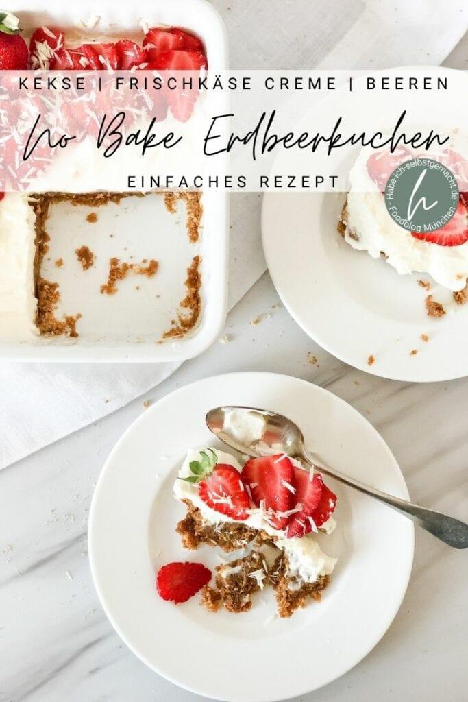 No Bake Erdbeerkuchen