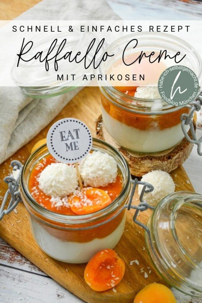 Raffaello Creme mit Aprikosen