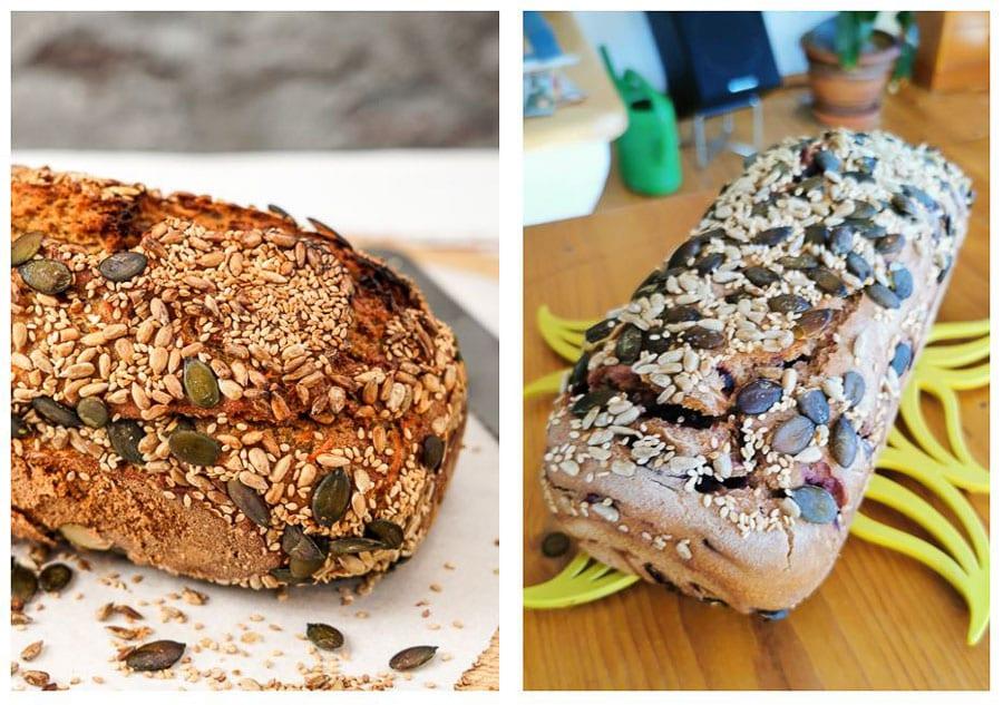 Roogen Vitalbrot mit und ohne Dampf gebacken