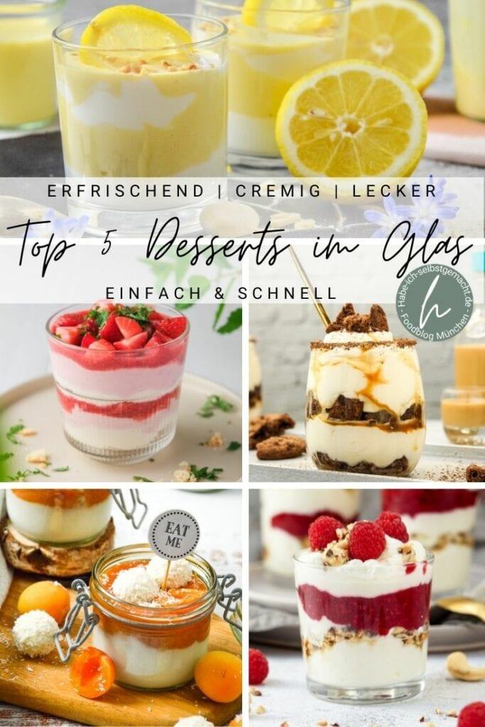 Top 5 Desserts im Glas Pinterest Flyer