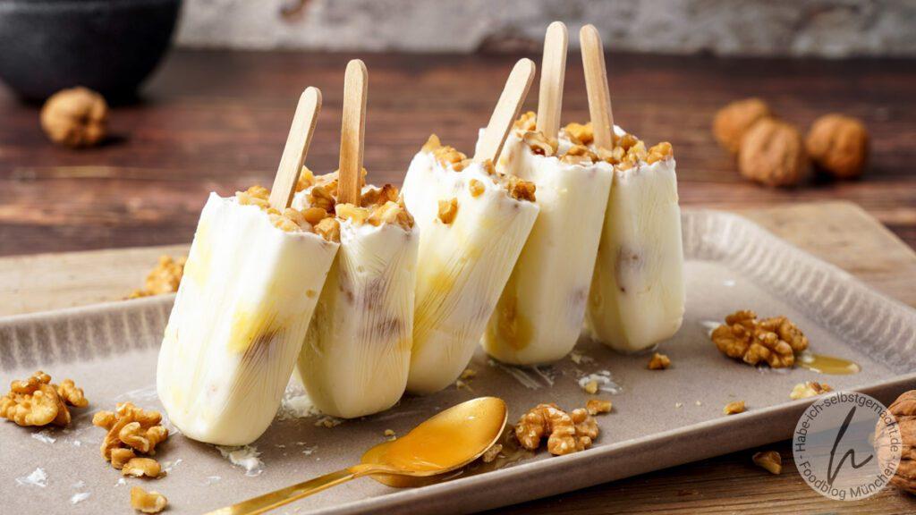 Griechisches Joghurt Eis (Popsicles)