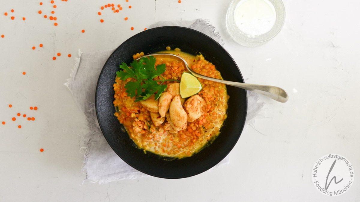 Linsen-Kokos-Bowl