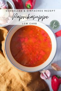 Low Carb Paprikasuppe
