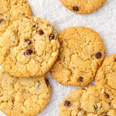 Einfache Schoko Kekse mit Nuss