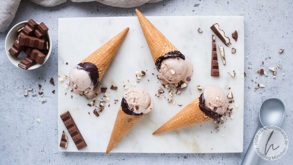 Kinderschokolade Eiscreme