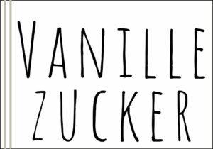 Vanillezucker Etikett