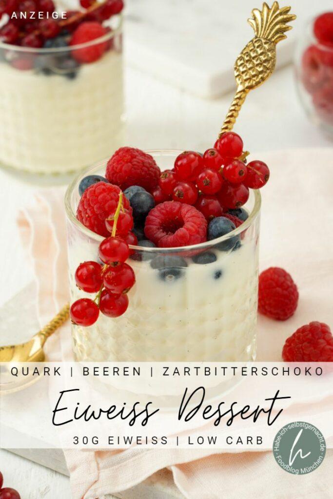 Protein Dessert mit OCEANSAPART Pinterest Flyer
